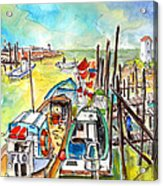 Boats And Boardwalks By Brittany 02 Acrylic Print