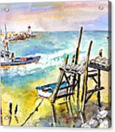 Boats And Boardwalks By Brittany 01 Acrylic Print