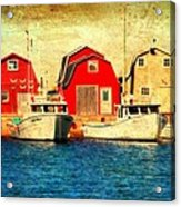 Boats And Boat Houses Pei Photograph  Acrylic Print by Laura Carter