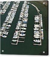 Boats And Docks At Cap Sante Marina Acrylic Print