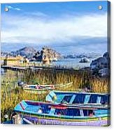 Boats And Floating Islands Acrylic Print