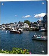 Boats At A Harbor, Nantucket Acrylic Print