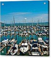 Boats At Bay Acrylic Print