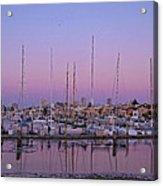 Boats At Dusk 1 Acrylic Print