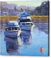 Boats At Merimbula Australia  Acrylic Print