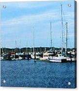 Boats At Newport Ri Acrylic Print