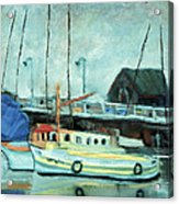 Boats At Provincetown Ma Acrylic Print