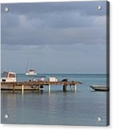 Boats At Rest Acrylic Print by Eric Glaser