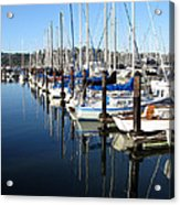 Boats At Rest. Sausalito. California. Acrylic Print