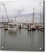 Boats At St. Augustine Harbor  Acrylic Print