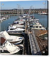 Boats At The San Francisco Pier 39 Docks 5d26005 Acrylic Print