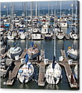 Boats At The San Francisco Pier 39 Docks 5d26009 Acrylic Print