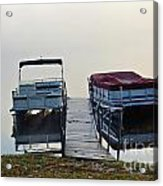 Boats By The Dock Acrylic Print