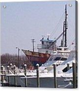 Boats Docked Acrylic Print