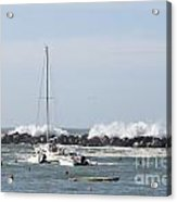 Boats In A Port Acrylic Print