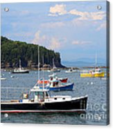 Boats In Bar Harbor Acrylic Print