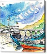 Boats In Barca De Alva 02 Acrylic Print