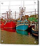 Boats In Branch Marina-nl Acrylic Print