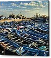 Boats In Essaouira Morocco Harbor Acrylic Print