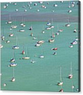 Boats In Harbor Acrylic Print