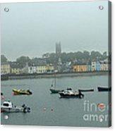 Boats In Irish Sea Acrylic Print