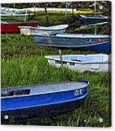 Boats In Marsh - Cape Neddick - Maine Acrylic Print