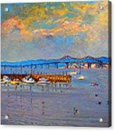 Boats In Piermont Harbor Ny Acrylic Print