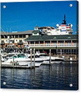 Boats In Port 3 Acrylic Print