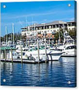 Boats In Port 5 Acrylic Print