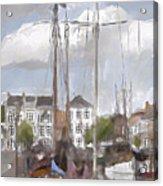 Boats In The Harbor 1905 Acrylic Print
