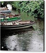 Boats In The Rain Ross Castle Ireland Acrylic Print