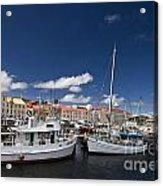 Boats Line Victoria Dock Hobar Acrylic Print