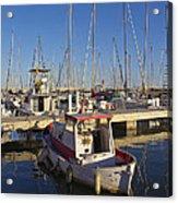 Boats Of Badalona Marina Acrylic Print