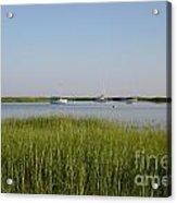 Boats On A Calm Bay.03 Acrylic Print