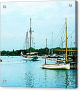 Boats On A Calm Sea Acrylic Print