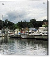 Boats On A Cloudy Day Essex Ct Acrylic Print