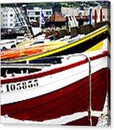 Boats On A French Beach Acrylic Print