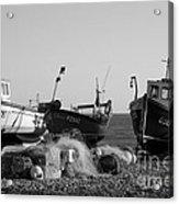 Boats On Beer Beach Acrylic Print