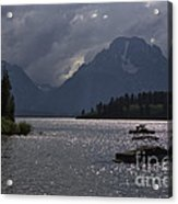 Boats On Jackson Lake - Grand Tetons Acrylic Print