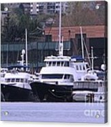 Boats On Lake Union Acrylic Print