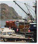 Boats On Morro Bay Acrylic Print