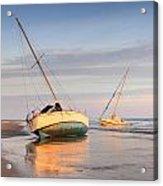Accidentally - Boats On The Beach Acrylic Print