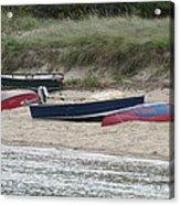 Boats On The Beach Acrylic Print