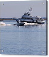 Boats On The Intracoastal Acrylic Print