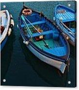 Boats Trio Acrylic Print