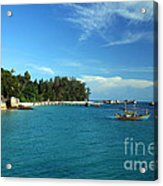 Boats With Beautiful Sea Acrylic Print