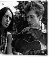 Bob Dylan And Joan Baez Acrylic Print