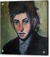 Bob Dylan Portrait In Colored Pencil  Acrylic Print