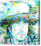 Bob Dylan - Watercolor Portrait.2 Acrylic Print