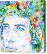 Bob Dylan Watercolor Portrait.3 Acrylic Print